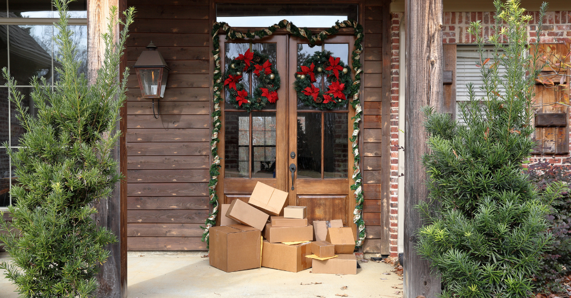 holiday packages outside of a home
