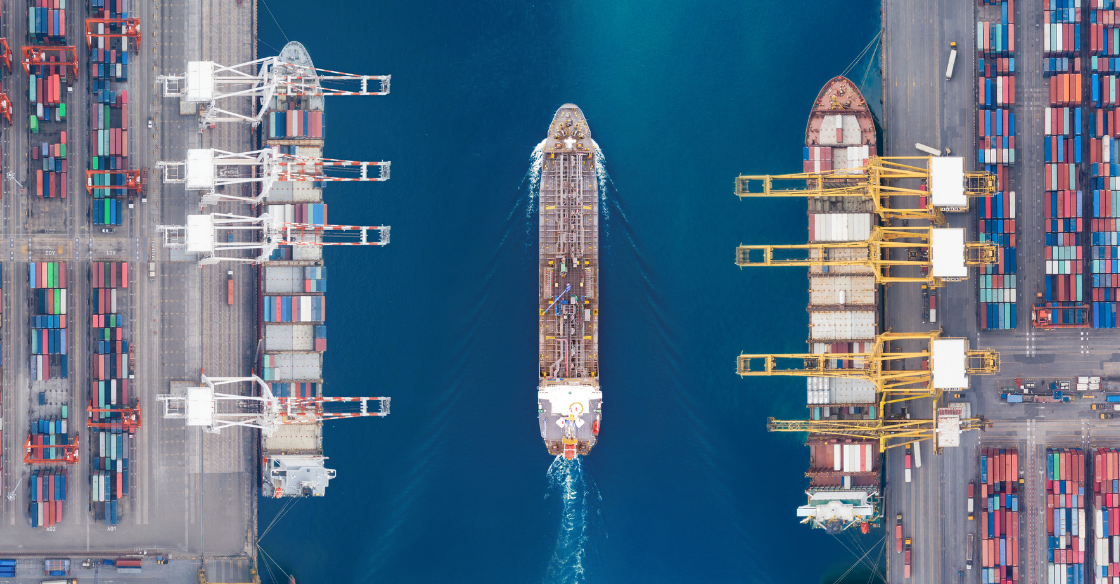 International shipping yard