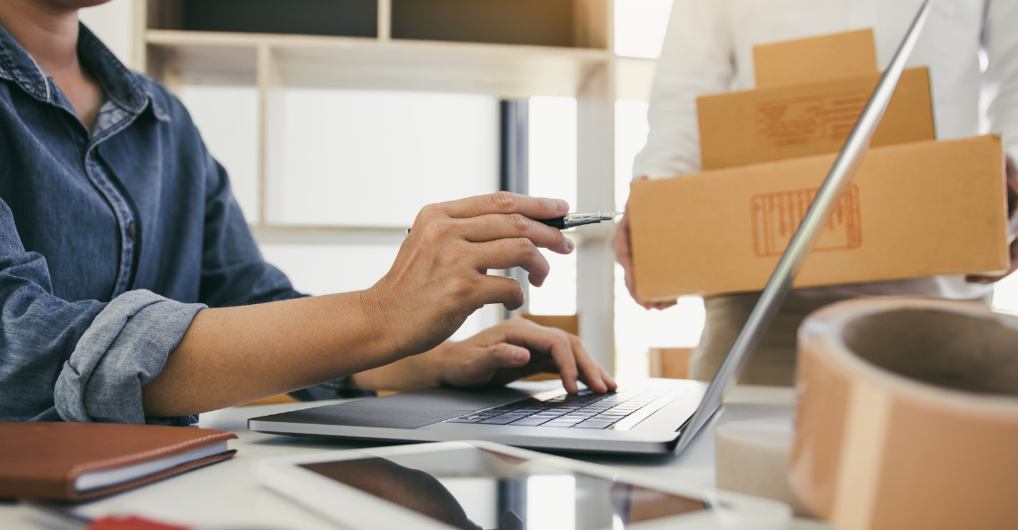 Ecommerce business shipping packages