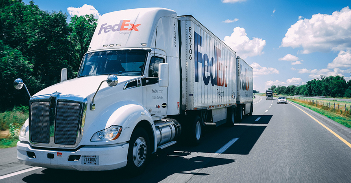 fedex truck shipping exception