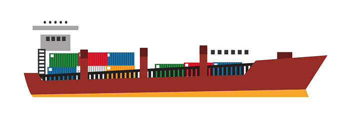 freight boat carrying cargo