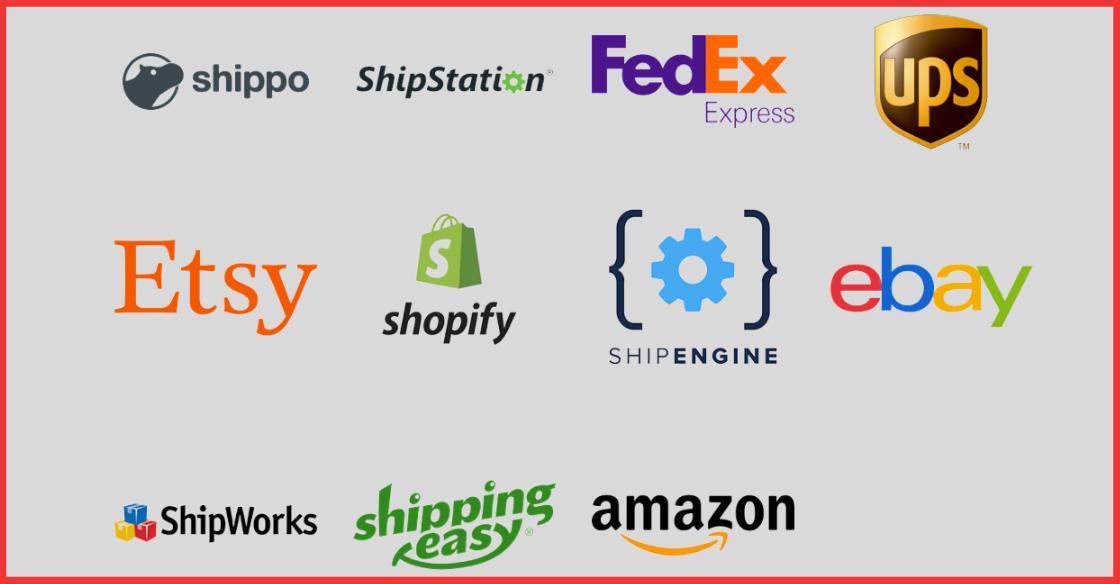 Shipping platforms Cabrella integrates with