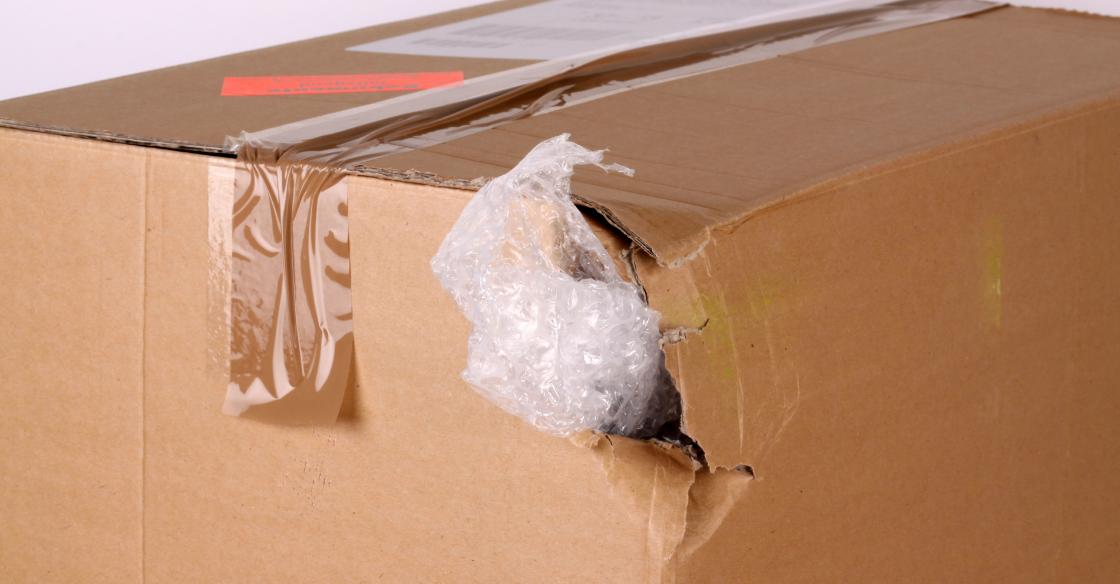Box damaged during shipping