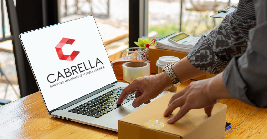 Man using Cabrella shipping insurance software to send a package