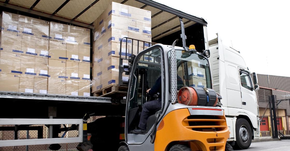 LTL shipment on pallets
